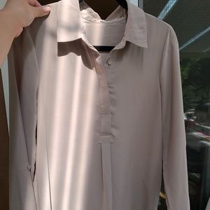 Pleione Tunic Medium Beige/Tan/Natural Button Down
